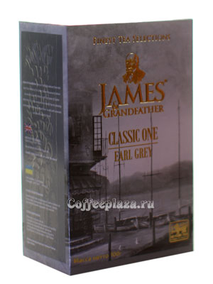 Чай James Grandfather EG. Черный. (Бергамот) 100 гр