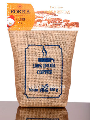 Кофе Rokka в зернах Индия АА 500 гр