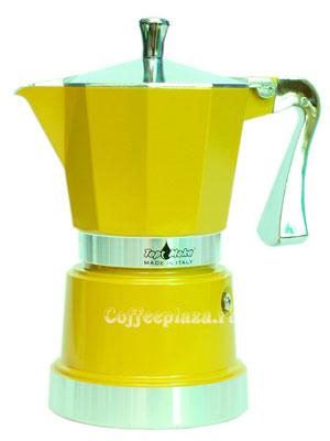 Гейзерная кофеварка Top Moka Caffettiera Super Top 6 порции (240 мл) золотой