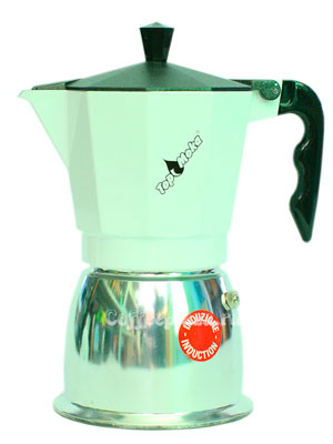 Гейзерная кофеварка Top Moka Caffettiera Top 6 порции (240 мл) черный argento индукционный