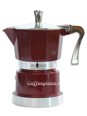 Гейзерная кофеварка Top Moka Caffettiera Super Top 3 порции (120 мл) бордовый