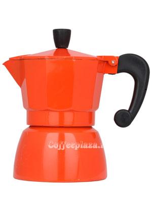 Гейзерная кофеварка Hot Оранжевая на 3 порции (120 мл)
