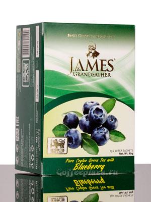 Чай James Grandfather Blueberry зеленый в пакетиках