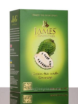 Чай James Grandfather зеленый чай с аноной 100 гр