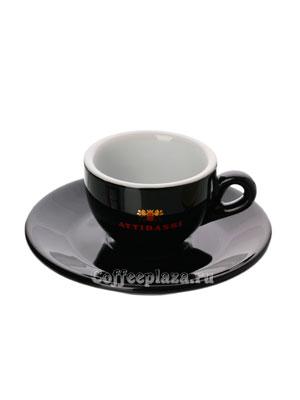 Чашка Attibassi эспрессо 50 мл Черная