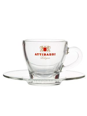 Чашка Attibassi капучино 150 мл Прозрачная