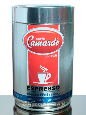 Кофе Camardo молотый Decaffeinato 250 гр ж.б.