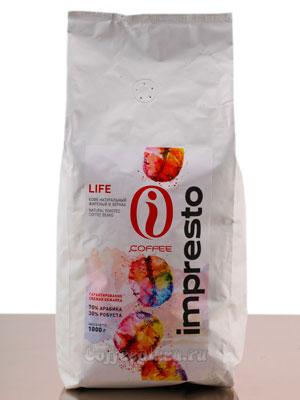 Кофе Impresto в зернах Life 1 кг