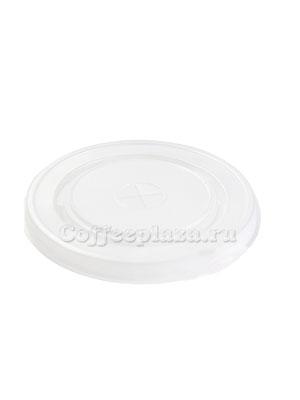 Крышка для бумажных стаканов под трубочку 80 мм (Прозрачная)