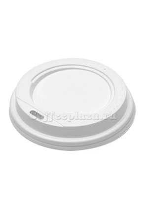 Крышка для бумажных стаканов с питейником 90 мм (Белая)