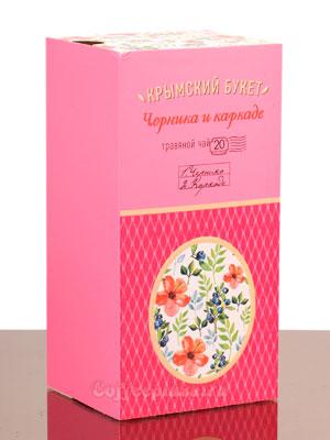 Травяная смесь Черника и каркаде Крымский букет пакетированный
