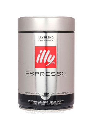 Кофе Illy молотый Espresso Coffee Dark 250 гр
