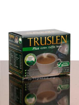 Кофе Truslen Green Coffee Bean 10 пакетиков по 16 гр