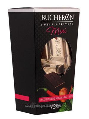 Шоколадные конфеты Bucheron Mini горький с фундуком, мятой и перцем 171 гр