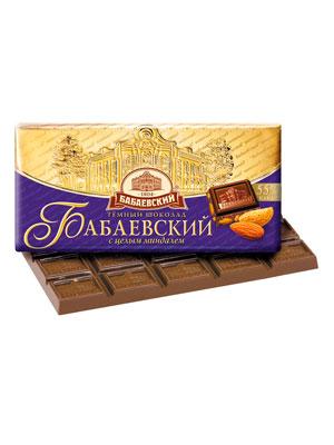 Шоколад Бабаевский темный с целым миндалем 100 гр