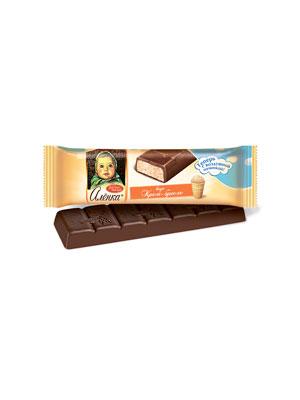 Шоколад Красный Октябрь Аленка с аэрированной начинкой со вкусом крем-брюле 42 гр