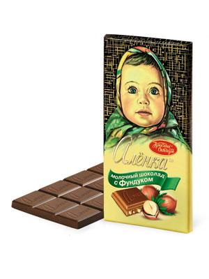 Шоколад Красный Октябрь Аленка с фундуком 100 гр