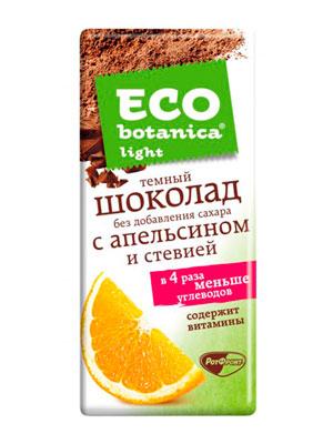 Шоколад Рот Фронт Eco botanica Light темный без добавления сахара ванильный 90 гр