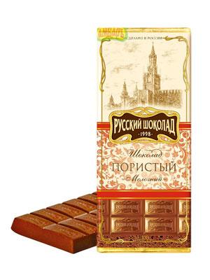 Шоколад Русский шоколад Молочный пористый 90 гр