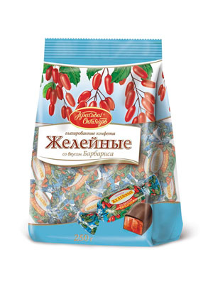 Конфеты Красный Октябрь Желейные со вкусом барбариса 250 гр