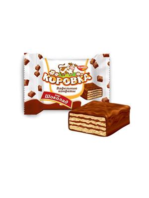Конфеты Рот Фронт вафельные Коровка вкус Шоколад