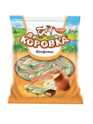 Конфеты Рот Фронт Коровка вкус топленое молоко 250 гр
