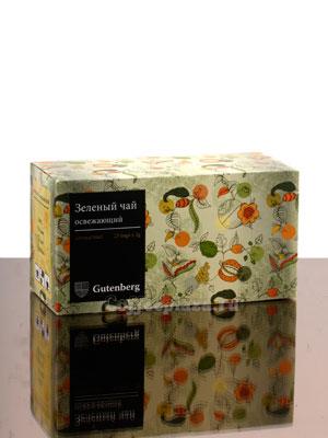 Чай Gutenberg Зеленый Освежающий в пакетиках 25 шт х 2 гр