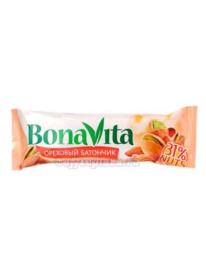 Ореховый Батончик Bona Vita Фисташка с клюквой