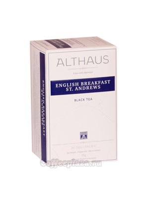 Чай Althaus English Breakfast St. Andrews черный 20х1,75 гр