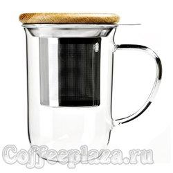VIVA Minima Чайная кружка с ситечком 0,5 л (V71400) Прозрачный