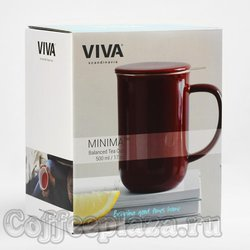 VIVA Minima Чайная кружка с ситечком 0,5 л (V77540) Бордовый