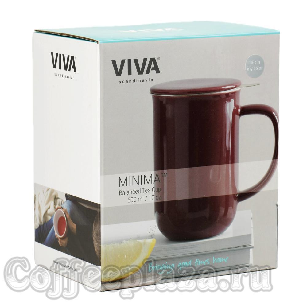 VIVA Minima Чайная кружка с ситечком 0,5 л (V77554) Серо-голубой