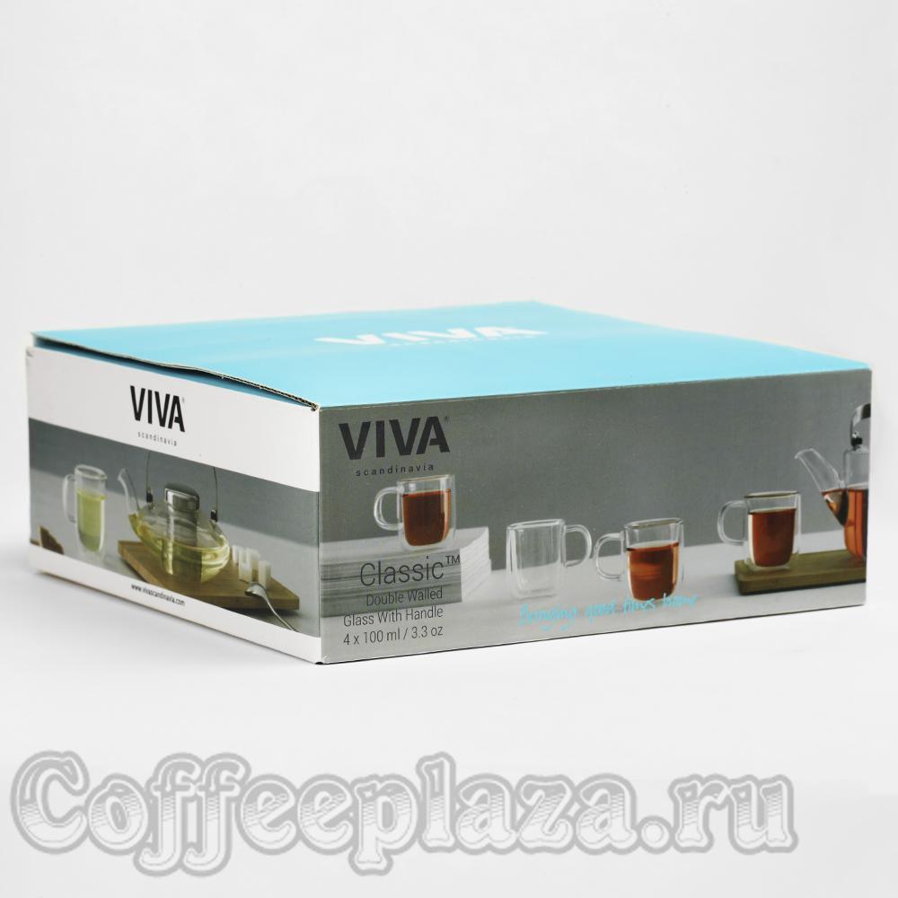 VIVA Classic Термокружка (комлект 4шт) 0,1 л (V75000) Прозрачный