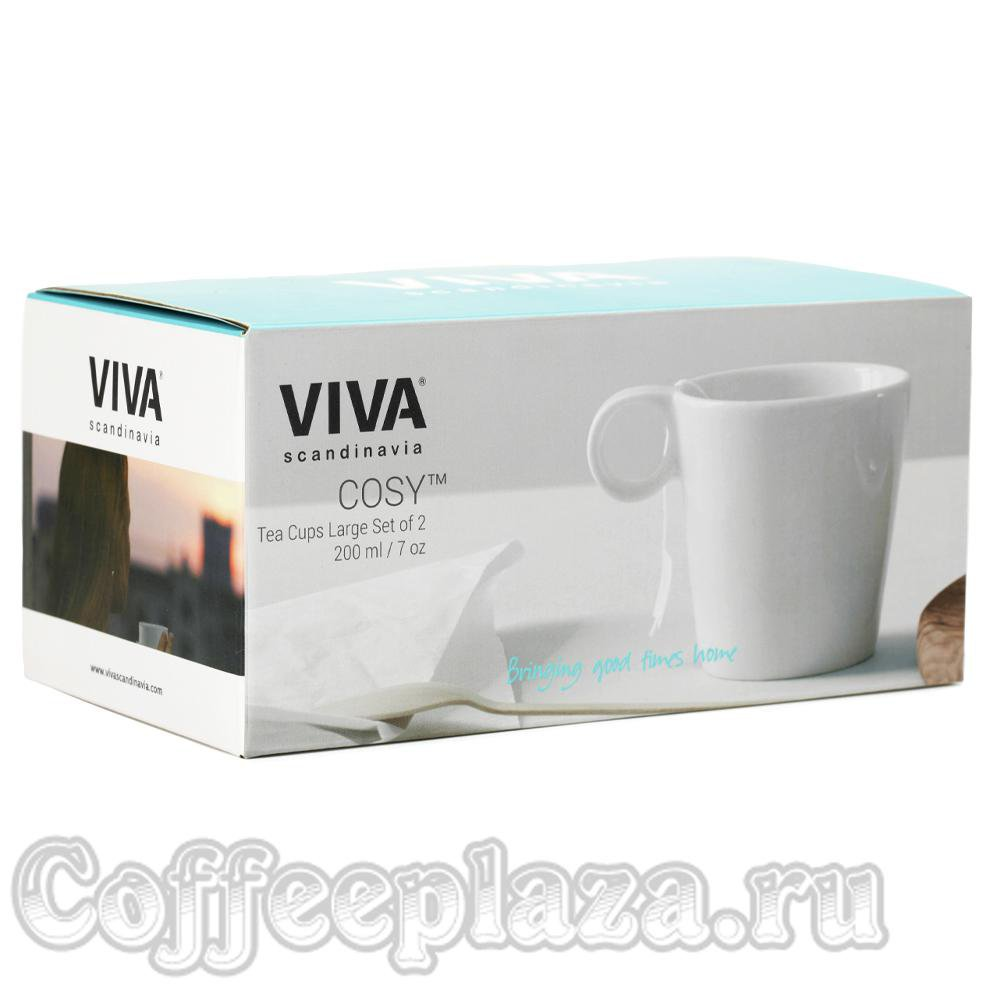 VIVA Cosy (Jaimi) Чайная кружка (комлект 2шт) 0, 2л (V80002) Белый