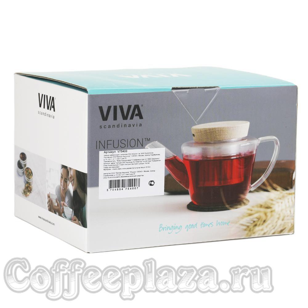 VIVA Infusion Чайник заварочный с ситечком 0.6 л (V75400) Прозрачный