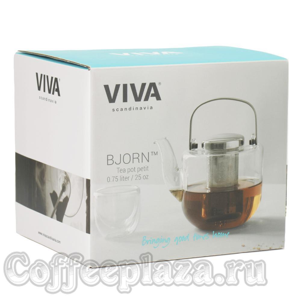 VIVA Bjorn Чайник заварочный с ситечком 0.75 л (V34301) Черный